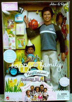 Alan & Ryan Happy Family Barbie Doll Ken 1st Birthday African American DENT AA