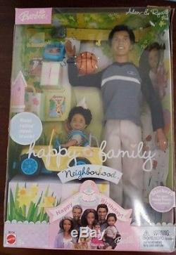 Alan & Ryan Happy Family Barbie Doll Ken 1st Birthday Tommy African American AA