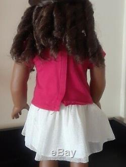 American Girl African American Doll Curly Dark Brown Hair Brown Eyes Gabriela 46