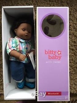 American Girl BITTY TWIN DOLL 1B BOY Dark HAIR & EYES African American NEW
