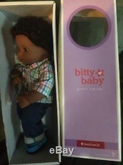 American Girl BITTY TWIN DOLL BOY African American BLACK HAIR GLOBAL SHIP New