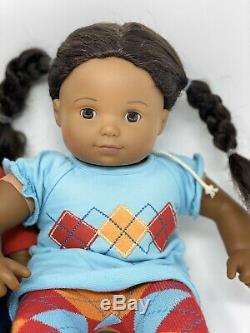 American Girl Bitty Baby Twins African American Boy / Girl Curly Textured Hair