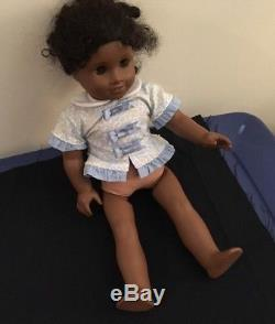 American Girl Cecile African American Doll + Retired Blue Dress Preowned 2011