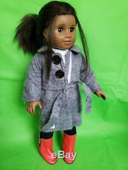 American Girl Doll 18 inch Tall African American Brown Curl Hair & Brown Eyes