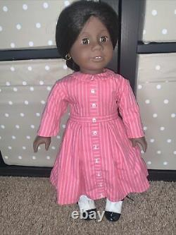American Girl Doll Addy Pleasant Company with Meet Outfit & Lace Up Boots