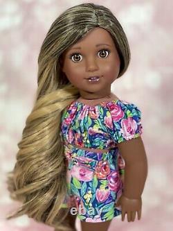 American Girl Doll Custom CYO OOAK African American Truly Me 80 Natalie
