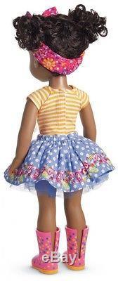 American Girl Kendall Doll Curly Mixed Dark Brown Black Hair African American