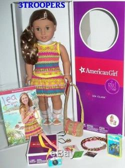 American Girl Lea Clark Doll Of The Year 2016 -18- Plus Accessories -boxes