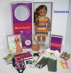 American Girl Lea Clark Doll Of The Year 2016 -18- Plus Hike Outfit Lot-new