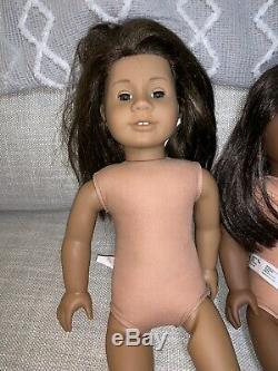 American Girl Lot of 3 African-American Dolls