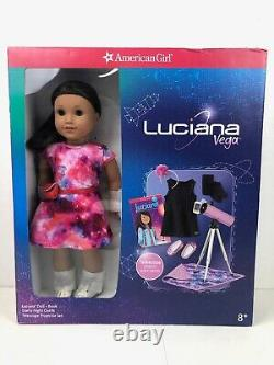 American Girl Luciana Doll Starry Night Outfit Telescope New 18