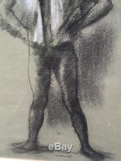 American Realist Alexander Brook. Female African-American Ballet Dancer C1950
