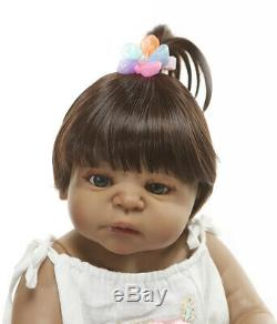 Anatomically Correct Biracial Reborn Baby Dolls Silicone Full Body Silicone Girl