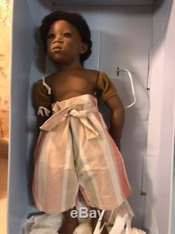 Annette Himstedt Puppen Kinder Pemba Summer Dreams Doll African American COA MIB