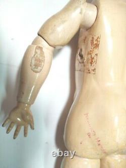 Antique German Bisque Handwerck Simon Halbig 22 Stamped Body