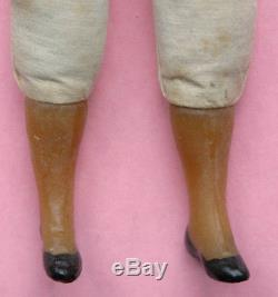 Antique German or French wax doll, possible ethnic, African American or colored