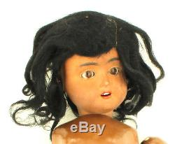 Antique Schoenau & Hoffmeister Black African American Child Dolly Face Doll 17