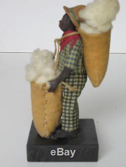 Antique Vargas African American wax figure
