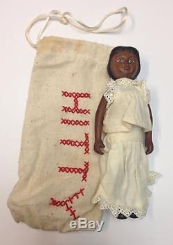 Artist Robert Raikes HITTY 6.5 Wooden Doll Gorgeous African American Mint