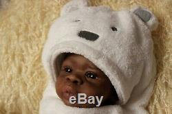 Asriel Awake Reborn Newborn AA/Ethnic/African American Baby Boy by Jorja Pigott