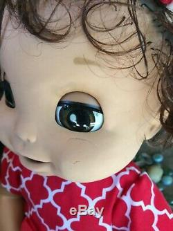 BABY ALIVE Brunette Soft Face Doll ENGLISH/SPANISH SPEAKING, With Accessories