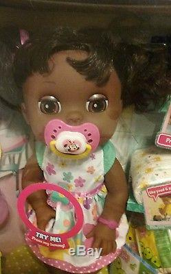 Baby Alive Real Surprises Doll Interactive African American With Bonus Outfit