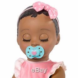BABY DOLL LUVABELLA AFRICAN AMERICAN Girl Dark Brown Hair Spin Master Luva Bella