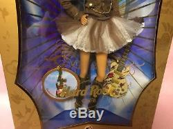BARBIE DOLL 2007 HARD ROCK CAFE-African American-Guitar Pin- GOLD LABEL-NEW NRFB