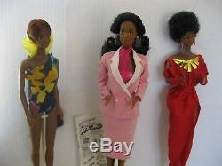 BARBIE Day To Night 1984-Tropical 1985-Black 1979 African American Dolls Lot