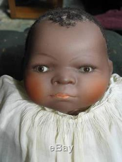 BEVERLY WALTER Reproduction African American Baby Doll Glass Eyes