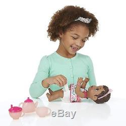 Baby Alive Lil Sips Baby Has a Tea Party Doll African American
