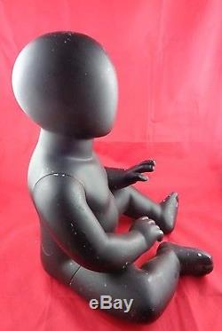 Baby Doll Mannequin Sitting African American Black Used