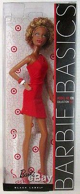 Barbie Basics African American Barbie Model No. 08 Collection RED Black Label