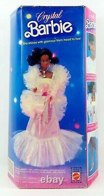 Barbie Crystal Barbie Doll African American AA 1988 Mattel No. 4859 NRFB