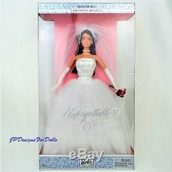 Barbie David's Bridal Unforgettable African American Bride Doll in Worn Box