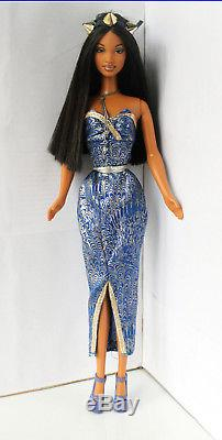 Barbie Doll African American Society Girl Redressed Beautiful RARE