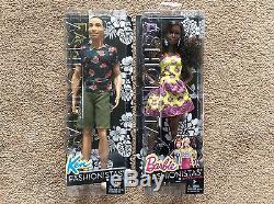 Barbie & Ken Fashionistas Dolls African American Black #4 & 20 Fancy Flowers NEW