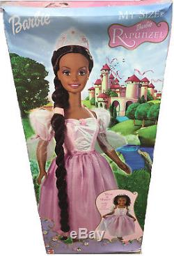 Barbie Rapunzel My Size African American Aa Doll Brand New