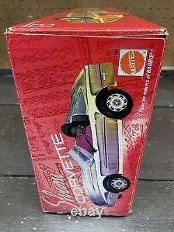Barbie Shani Gold Corvette Car Vehicle & Beach Dazzle Figure Mattel 1991 NEW