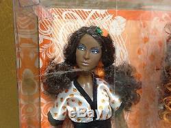 Barbie Top Model Muse Nikki Brunette Orange Hair Wear African American AA Doll