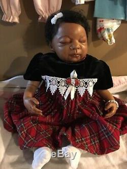 Beautiful Reborn AA Biracial Baby Girl -Free Ship