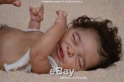 Biracial / AA Reborn Baby Girl Doll PROTOTYPE Happy by Adrie Stoete