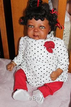 Biracial/African-American Reborn baby doll Girl 22 vinyl