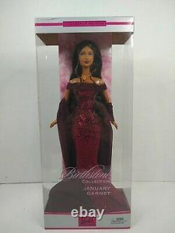 Birthstone Collection Barbie Doll January Garnet Doll 2002 Mattel C0583 NRFB HTF