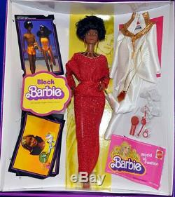 Black Barbie reproduction Mattel Barbie NRFB Mint African American AA Repro