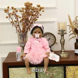 Black Dolls Realistic Look Biracial Baby Girls Reborn Dolls African American Toy