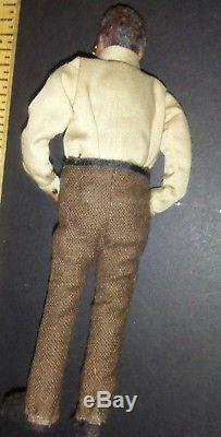 Black Man African American DOLL CHARACTER Dollhouse Miniatures Artist Handmade