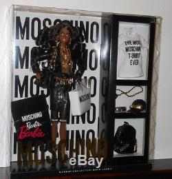 Black Moschino Barbie AA African American Gold Label Limited