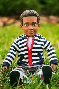 Boy Story 18 ball jointed boy doll, african american, vinyl plush new in box