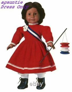 Brand New American Girl Addy Patriotic Party DRESS ONLY Outfit Retired & Rare